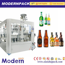 Automatic glass bottle filling machine for beer